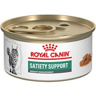 Royal Canin Veterinary Diet Satiety Support Weight Management Morsels in Gravy Canned Cat Food, 3-oz, case of 24
