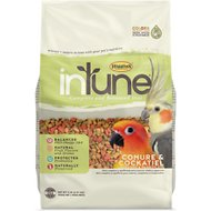 Higgins InTune Natural Conure & Cockatiel Bird Food, 2-lb bag