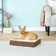 Petmaker Orthopedic Sherpa Dog Bed, Brown, Small