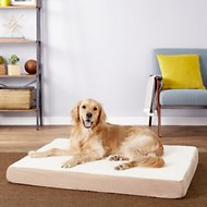 Petmaker Orthopedic Sherpa Dog Bed, Tan, X-Large