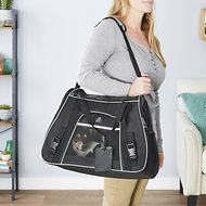 Frisco Basic Pet Carrier, Black, Medium/Large, Gray Trim