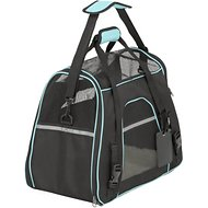 Frisco Basic Pet Carrier, Black, Medium/Large, Teal Trim