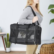 Frisco Premium Travel Pet Carrier, Black, Large