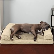 FurHaven Plush & Suede Orthopedic Sofa Dog & Cat Bed, Large, Clay