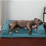 FurHaven Plush & Suede Orthopedic Sofa Dog & Cat Bed, Large, Deep Pool