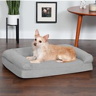 FurHaven Quilted Orthopedic Sofa Dog & Cat Bed, Medium, Silver Gray