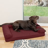 FurHaven Quilted Orthopedic Sofa Dog & Cat Bed, Large, Wine Red