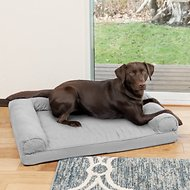 FurHaven Quilted Orthopedic Sofa Dog & Cat Bed, Large, Silver Gray