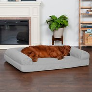 FurHaven Quilted Orthopedic Sofa Dog & Cat Bed, Jumbo, Silver Gray