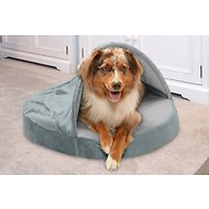 FurHaven Microvelvet Snuggery Orthopedic Dog & Cat Bed, 26-inch, Gray