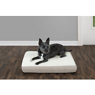 FurHaven Faux Sheepskin & Suede Deluxe Orthopedic Dog & Cat Bed, Small, Clay