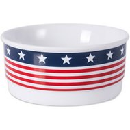 Bone Dry Patriotic Ceramic Dog and Cat Bowl, Small