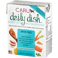 Caru Daily Dish Turkey with Wild Salmon Stew Grain-Free Wet Dog Food, 12.5-oz, case of 12