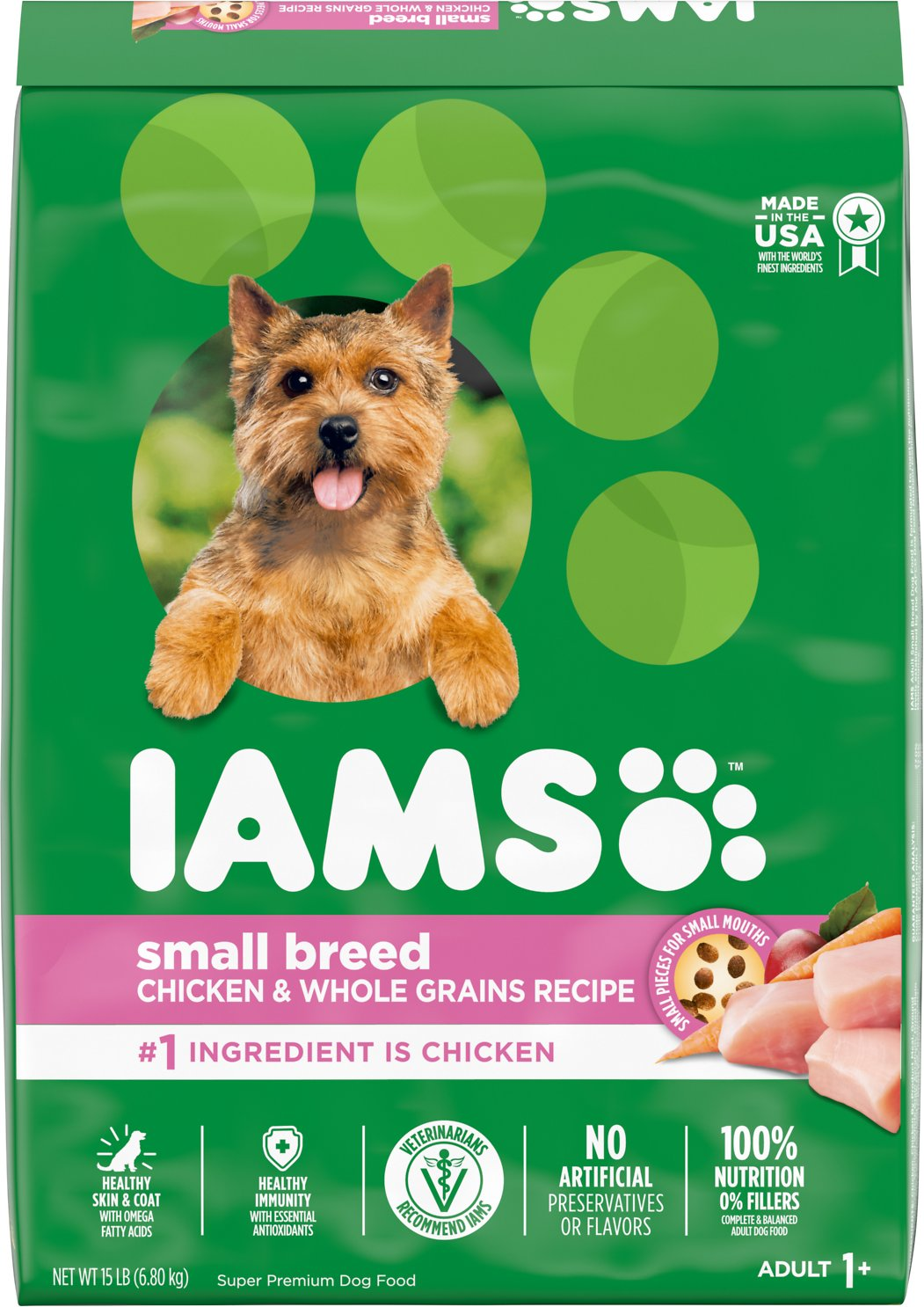 Iams Proactive Health Adult Small Toy Breed Dry Dog Food 15 Lb