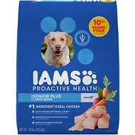 Iams ProActive Health Senior Plus Large Breed Dry Dog Food, 30-lb bag