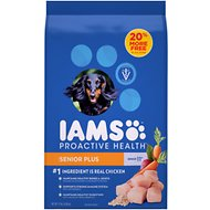 Iams ProActive Health Senior Plus Dry Dog Food, 15-lb bag