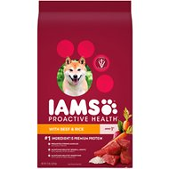 Iams ProActive Health With Beef & Rice Dry Dog Food, 15-lb bag