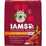 Iams ProActive Health With Beef & Rice Dry Dog Food, 30-lb bag