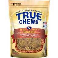 True Chews Bakes Chicken, Peanut Butter & Apple Grain-Free Recipe Dog Treats, 8-oz bag
