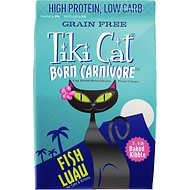 Tiki Cat Born Carnivore Fish Luau Grain-Free Dry Cat Food, 5.6-lb bag