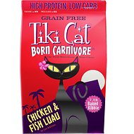 Tiki Cat Born Carnivore Chicken & Fish Luau Grain-Free Dry Cat Food, 2.8-lb bag