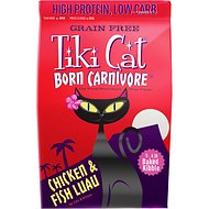 Tiki Cat Born Carnivore Chicken & Fish Luau Grain-Free Dry Cat Food, 5.6-lb bag