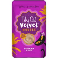 Tiki Cat Velvet Mousse Salmon Grain-Free Wet Cat Food, 2.8-oz pouch, case of 12