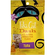 Tiki Cat Dash Tuna Flakes Grain-Free Cat Food Topper, 1.5-oz pouch
