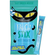 Tiki Cat Stix Tuna Mousse Grain-Free Cat Food Topper, 3-oz pouch, pack of 6