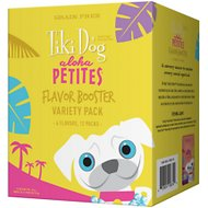 Tiki Dog Aloha Petites Flavor Booster Variety Pack Grain-Free Dog Food Topper, 1.5-oz pouch, case of 12