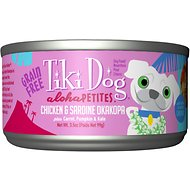 Tiki Dog Aloha Petites Chicken & Sardine Okakopa Grain-Free Dog Food, 3.5-oz can, case of 24