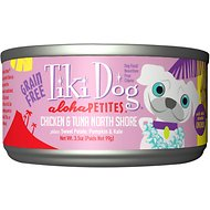 Tiki Dog Aloha Petites Chicken & Tuna North Shore Grain-Free Dog Food, 3.5-oz can, case of 24