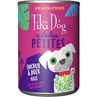 Tiki Dog Aloha Petites Chicken & Duck Maui Grain-Free Dog Food, 9-oz, case of 12
