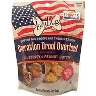 The Lazy Dog Cookie Co. Operation Drool Overload Blueberry & Peanut Butter Dog Treats, 5-oz bag