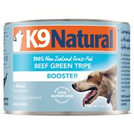 K9 Natural Beef Green Tripe Booster Grain-Free Canned Dog Food Supplement, 6-oz, case of 24