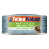 Feline Natural Lamb Green Tripe Grain-Free Hydration Booster Canned Cat Food Supplement, 3-oz, case of 12