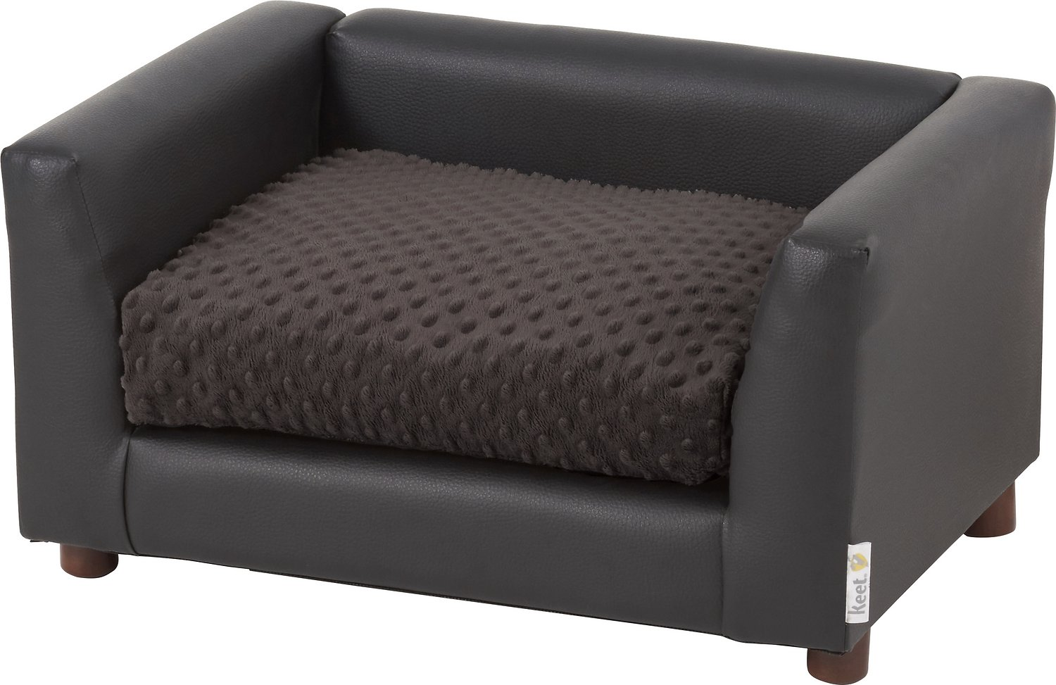 Keet Fluffly Deluxe Dog Bed Sofa, Chocolate, Small - Chewy.com