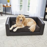 Keet Fluffly Deluxe Dog Bed Sofa, Chocolate, Large