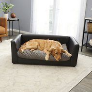 Keet Fluffly Deluxe Dog Bed Sofa, Charcoal, Large
