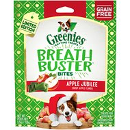 Greenies Breath Buster Bites Apple Jubilee Flavor Grain-Free Dental Dog Treats, 5.5-oz bag