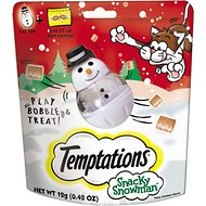 Temptations Snacky Snowman Cat Treat Toy, 0.42-oz treat pack