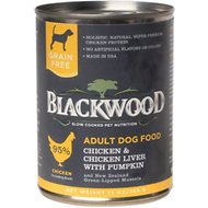 Blackwood Chicken & Chicken Liver With Pumpkin Grain-Free Adult Canned Dog Food, 13-oz, case of 12