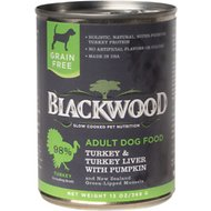 Blackwood Turkey & Turkey Liver With Pumpkin Grain-Free Adult Canned Dog Food, 13-oz, case of 12