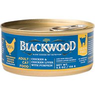 Blackwood Chicken & Chicken Liver With Pumpkin Grain-Free Adult Canned Cat Food, 5.5-oz, case of 24