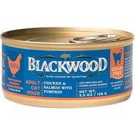 Blackwood Chicken & Salmon With Pumpkin Grain-Free Adult Canned Cat Food, 5.5-oz, case of 24