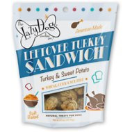 The Lazy Dog Cookie Co. Leftover Turkey Sandwich Turkey & Sweet Potato Dog Treats, 5-oz bag