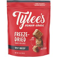 Tylee's Beef Human-Grade Freeze-Dried Dog Treats, 3.5-oz