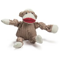 HuggleHounds Mr. Sock Monkey Knottie Dog Toy, Medium