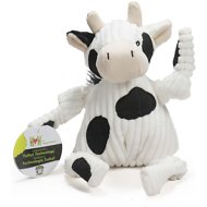 HuggleHounds Barnyard Plush Corduroy Knottie Dog Toy, Cow, Large