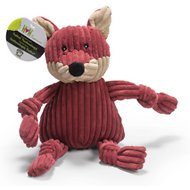 HuggleHounds Woodlands Plush Corduroy Knottie Dog Toy, Fox, Large